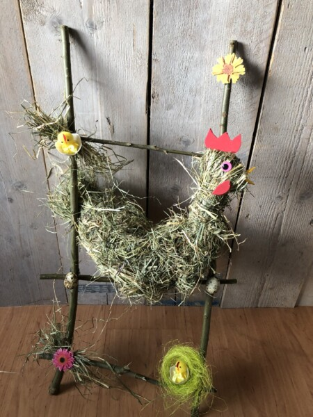 Een gave voorjaarsworkshop met hooi.