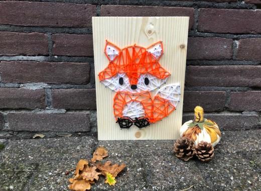 spijkerkunst herfst vos